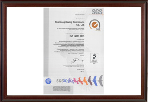 ISO14001 Quality Certification
