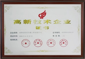 National High-tech Enterprise(shenzhen kexing)